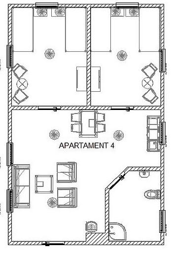 Rozkład apartamentu 4 w BioRezydencji