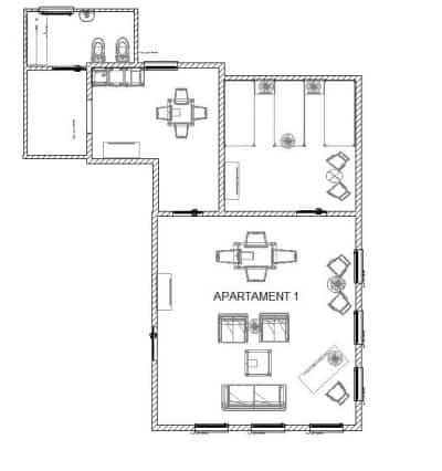 Rozkład apartamentu 1