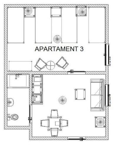 Rozkład apartamentu 3