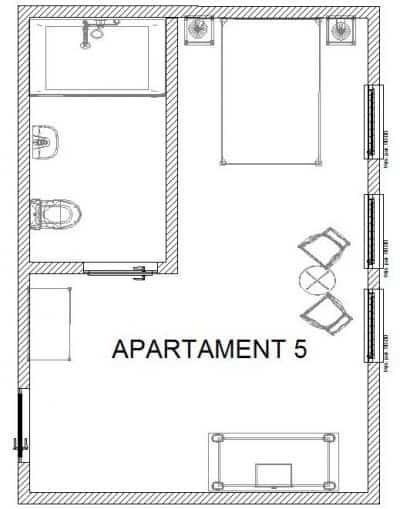 Rozkład pokoju nr 5