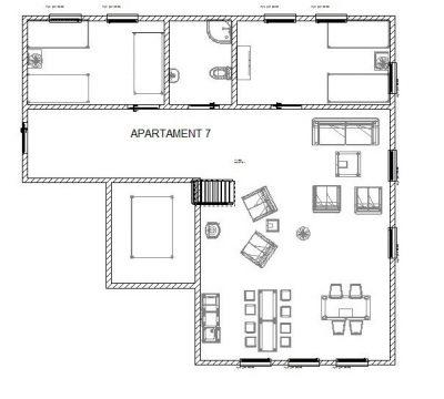 Rozkład apartamentu 7 w BioRezydencji