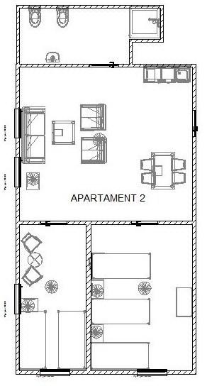 Rozkład apartamentu 2 w BioRezydencji